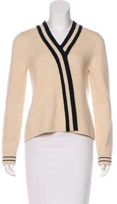 Bouchra Jarrar Bicolor Knit Sweater