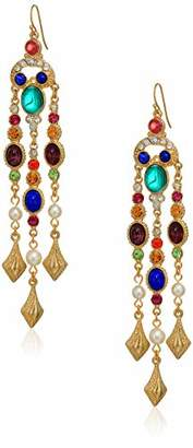 Crystal Pearl Ben-Amun Jewelry Victoria Fish Hook Earrings