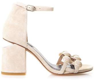 Alexander Wang Abby Cashmere Suede Sandals