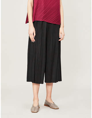 Pleats Please Issey Miyake Moncol high-rise wide-leg pleated trousers