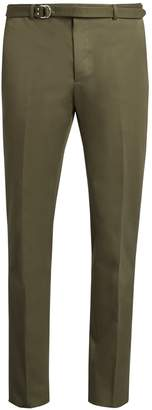 Valentino Slim-fit belted cotton trousers