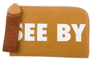See by Chloe 2018 Logo Leather Wristlet