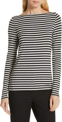Nordstrom Signature Stripe Bateau Neck Long Sleeve Tee