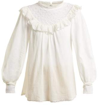 Zimmermann Melody Crochet Detailed Cotton Shirt - Womens - Ivory