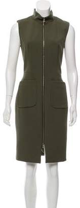 L'Agence Sleeveless Zip-Up Dress