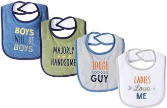 Luvable Friends Baby Baby Drooler Bib, 4 Pack