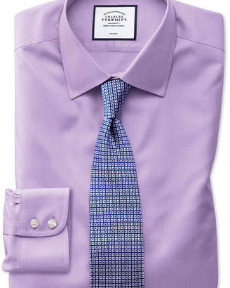 Charles Tyrwhitt Slim fit non-iron twill lilac shirt