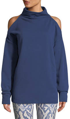 Key Stone Varley Keystone Cold-Shoulder Funnel-Neck Sweatshirt