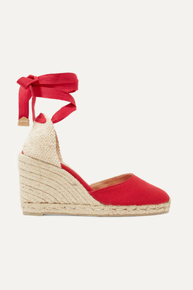 Castaner Carina Canvas Wedge Espadrilles - Red