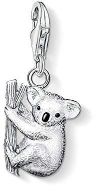 Thomas Sabo Women-Charm Pendant Koala Charm Club 925 Sterling Silver blackened black 0643-007-12 3A1zuE