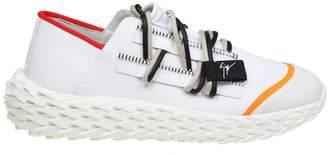 Giuseppe Zanotti Design Sneakers Urchin In Rubberized Leather White Color