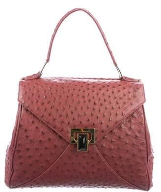 Kara Ross Trinity Ostrich Bag Red Trinity Ostrich Bag