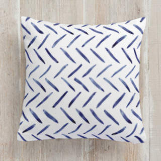 Painted Pattern - Loose Herringbone Self-Launch Square Pillows