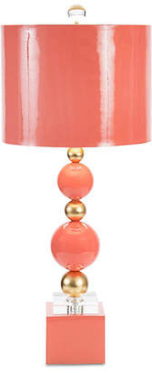 Couture Sheridan Crystal Table Lamp - Coral/Gold