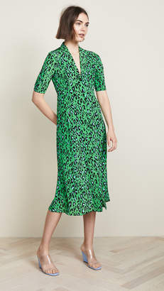Diane von Furstenberg Cinch Sleeve Shirt Dress