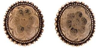 Stephen Dweck Carved Floral Quartz Clip-On Earrings