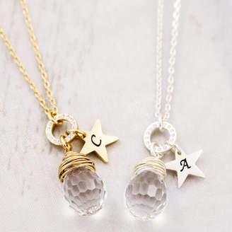 Swarovski J&S Jewellery Crystal Wrapped Pendant Made With Crystal
