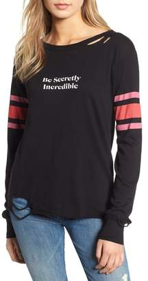 Wildfox Couture Stellar - Be Secretly Incredible Ripped Tee