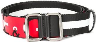 Dolce & Gabbana striped logo belt