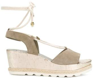 Högl ankle tie wedge sandals