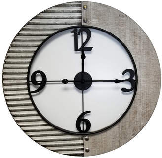 Brewster Home Fashions Willie Metal and Wood Clock