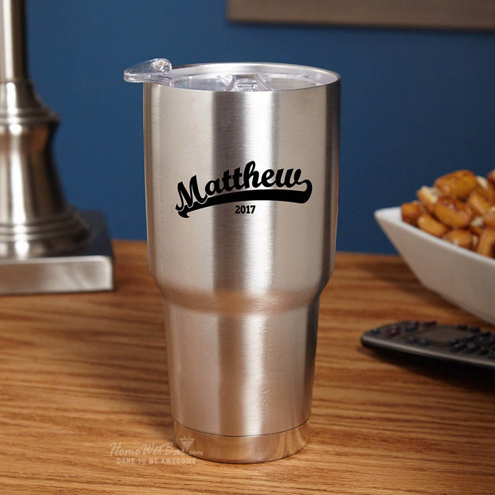 Etsy Stainless Steel Drink Tumbler with Ballpark Engraving - Baseball fan gifts, Gifts for Dad, Gifts for