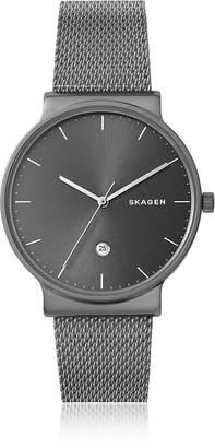Skagen Ancher Titanium and Grey Sunray Dial Men's Watch