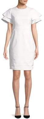 Calvin Klein Tiered-Sleeve Sheath Dress