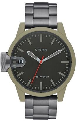 Nixon Men's Chronicle 44 Watch $350 thestylecure.com