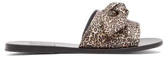 Ancient Greek Sandals Taygete Leopard Print Leather Slides - Womens - Leopard