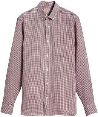 Burberry Button-down Collar Gingham Shirt