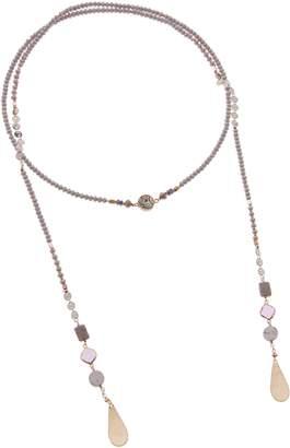 Nakamol Design Stone & Crystal Lariat Necklace