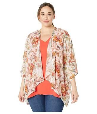 Karen Kane Plus Plus Size Drape Front Kimono