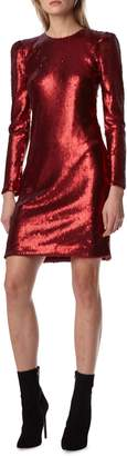ML Monique Lhuillier Sequin Cocktail Dress