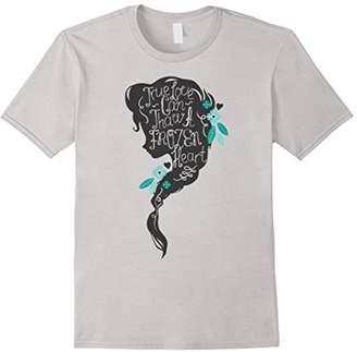 Disney Frozen Elsa Head Profile Love Thaws Graphic T-Shirt