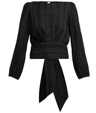 Merlette - Monceau Eyelet Cotton Blouse - Womens - Black