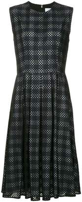 CK Calvin Klein checked lace overlay dress