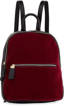 Neiman Marcus Vera Velvet Two-Tone Backpack