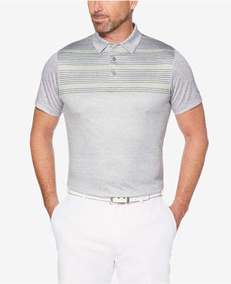 PGA Tour Men's Space-Dyed Stripe Polo