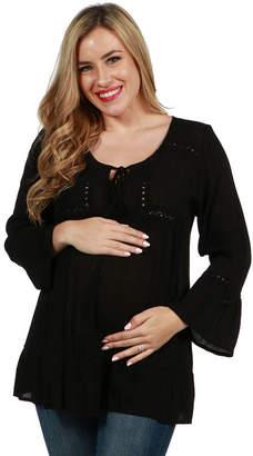 24/7 Comfort Apparel Kendra Maternity Tunic Top