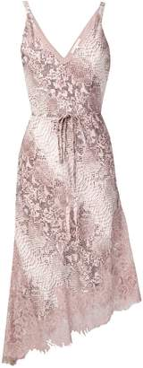 Gold Hawk snakeskin print dress