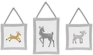 JoJo Designs Sweet Forest Deer 3 Piece Hanging Art Set