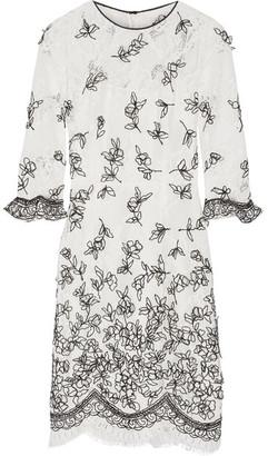 Oscar de la Renta - Embroidered Appliquéd Lace Dress - Ivory $4,490 thestylecure.com