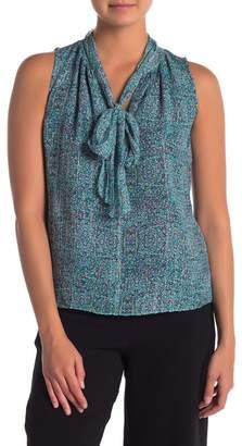 Rebecca Taylor Sleeveless Minnie Floral Silk Blend Top