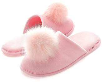 Fly London HAWK Women's Cozy Velvet Memory Foam House Slippers Indoor Hair Ball Shoes