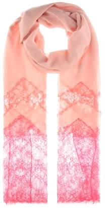 Valentino Cashmere-blend and lace scarf