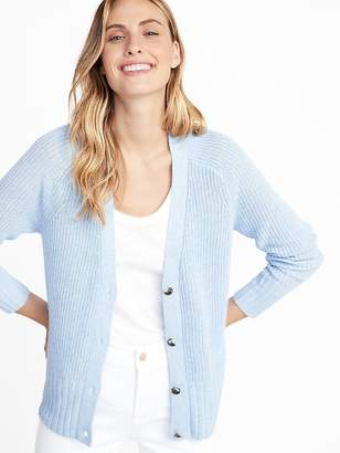 Old Navy Shaker-Stitch Button-Front Cardi for Women