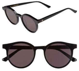 Women's Gentle Monster Noir Cat 51Mm Round Sunglasses - Black $215 thestylecure.com