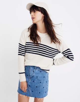 Madewell Cashmere Sweatshirt in Nautical Stripe