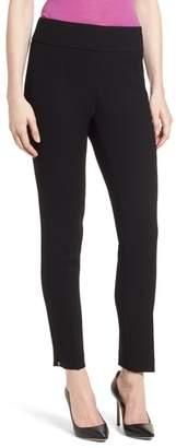 BOSS Timalea Compact Crepe Side Zip Slim Leg Trousers
